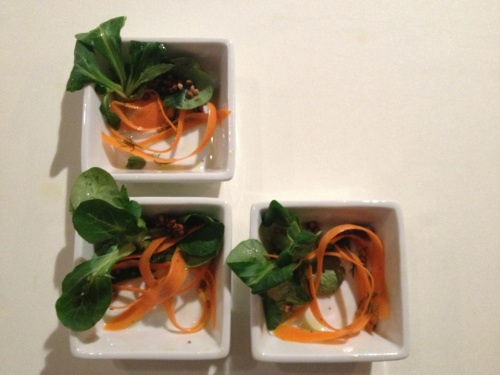 suite three oh six mache carrot salad