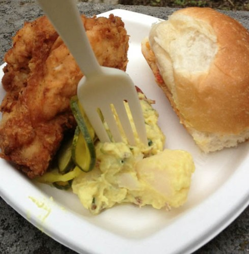 bobwhite lunch and supper counter nyc fried chicken potato salad pimento cheese sandwich