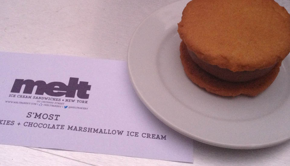 Melt ice cream sandwich s'most