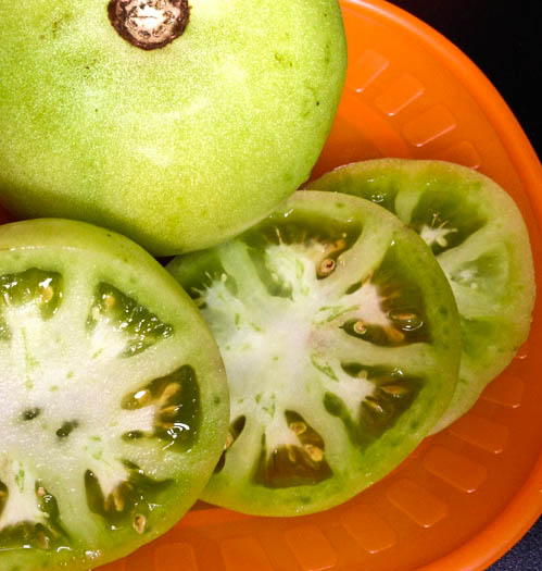 green tomatoes tomato slices fried