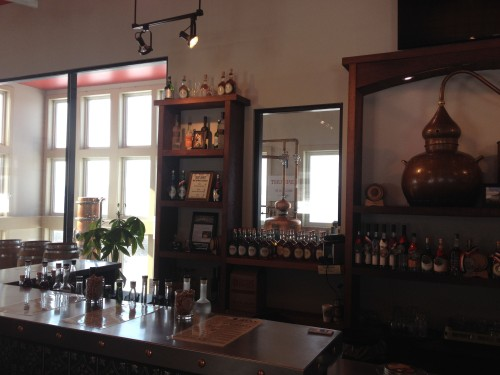 bar tasting room distillery microdistillery Finger Lakes Distilling bottles whisky whiskey spirits