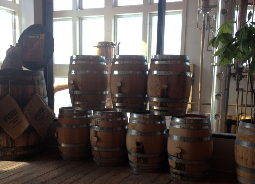 barrel cask whisky whiskey Finger Lakes Distillery wooden oak aged spirits tasting room