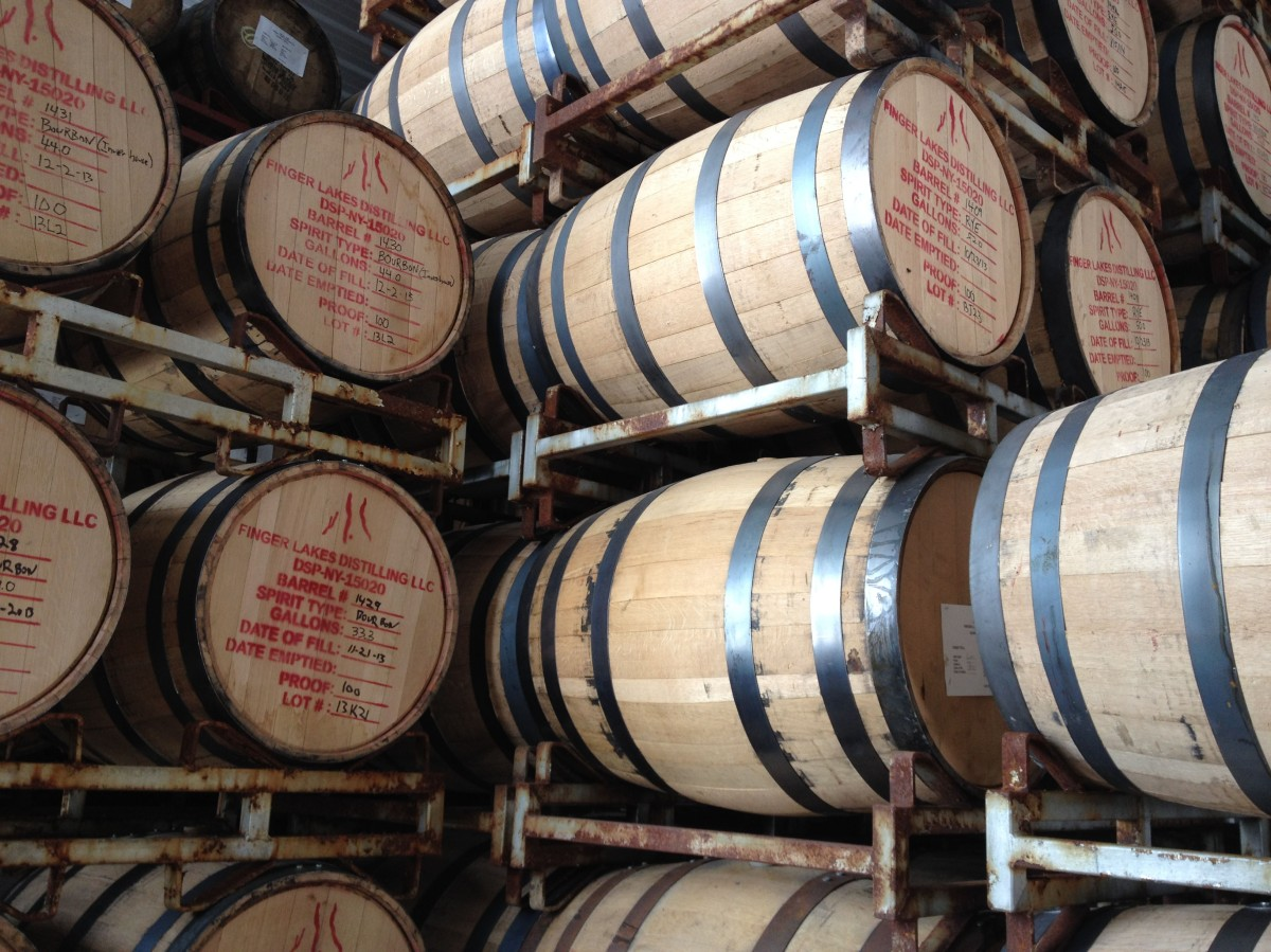 finger lakes distillery whiskey whisky barrel aged seneca lake rickhouse warehouse storage