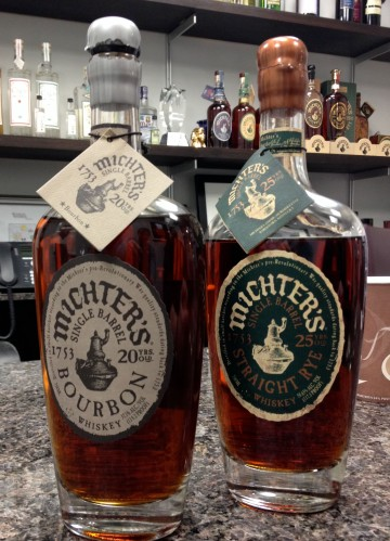 bourbon whiskey rye whisky Michter's single barrel American