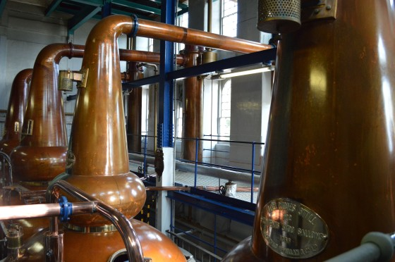 Deanston Distillery whisky Scotch still stillhouse copper