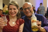 Amanda Schuster of Alcohol Professor with Raj Sabharwal of Purple Valley Imports