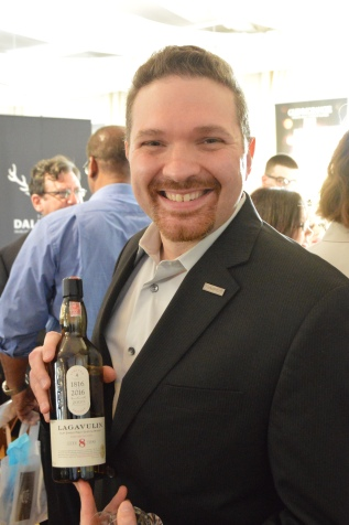 Diageo Master of Whisky Joe Gratkowski with Lagavulin's 200th anniversary 8-year-old whisky